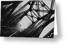 Mid Span  In Black And White Greeting Card