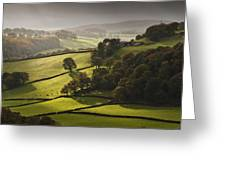 Mid Wales Autumn Landscape Greeting Card