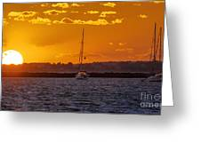 Mid Week Sunset Greeting Card