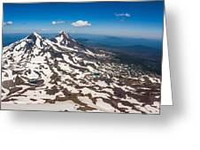 Middle And North Sister Greeting Card