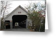 Middle Bridge Back Woodstock Vermont Greeting Card