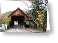 Middle Bridge Front Woodstock Vermont Greeting Card