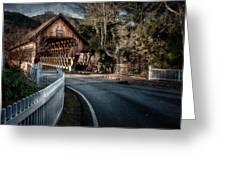 Middle Bridge - Woodstock Vermont Greeting Card