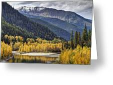 Middle Fork Brillance  Greeting Card