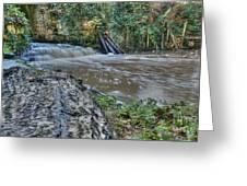 Middleton Hall Waterfall Greeting Card