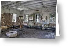 Middleton Place Rice Mill Interior Greeting Card