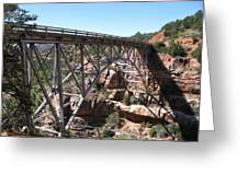 Midgley Bridge Over Oak Creek Canyon Greeting Card