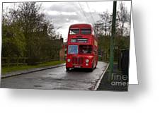 Midland Red Bus Greeting Card