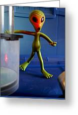 Midnight Alien Skinnydipping Party Greeting Card