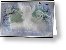 Midnight Angel Of Peace Greeting Card