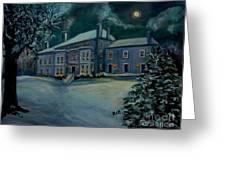 Midnight At The  Lyman Estate Greeting Card