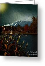Midnight Blue In The Mountains Greeting Card