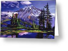 Midnight Blue Lake Greeting Card by David Lloyd Glover