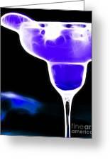 Midnight Blue Margarita Breeze Greeting Card
