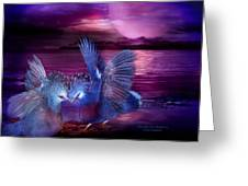 Midnight Blue Rendevous Greeting Card