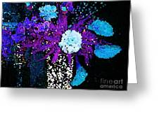 Midnight Callas And Orchids Abstract Greeting Card