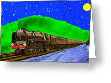 Midnight Express Greeting Card