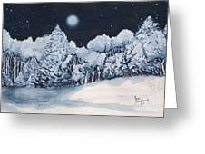 Midnight Frost Greeting Card