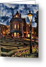 Midnight In The Labyrinth Garden  Greeting Card by Lee Dos Santos