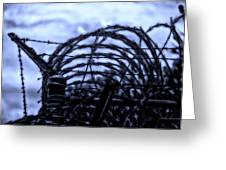 Midnight In The Prison Yard Greeting Card