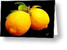 Midnight Lemons Greeting Card