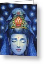 Midnight Meditation Kuan Yin Greeting Card