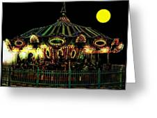 Midnight Midway Greeting Card