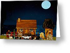 Midnight Near The Sea In Color Greeting Card
