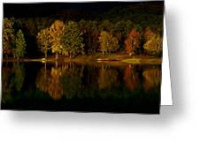 Midnight On The Lake Greeting Card by Linda Unger