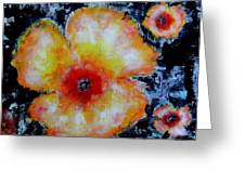 Midnight Poppies Greeting Card