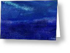 Midnight Sea Passage Greeting Card