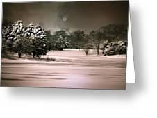 Midnight Stillness Greeting Card by Julie Palencia
