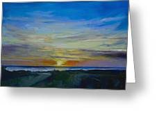 Midnight Sun Greeting Card by Michael Creese