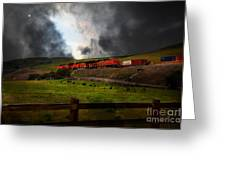 Midnight Train - 5d21043 Greeting Card by Wingsdomain Art and Photography
