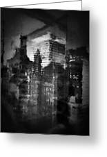 Midtown Black And White Greeting Card