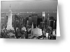 Midtown Manhattan 1980s Greeting Card