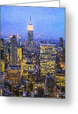 Midtown Manhattan And Empire State Building Greeting Card
