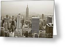 Midtown Manhattan With Empire State Building Greeting Card