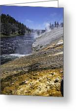 Midway Geyser Runoff Greeting Card