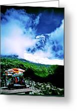 Le Milieu De Mont Blanc   Greeting Card