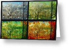Midwest Seasons Collage Greeting Card