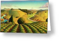 Midwest Vineyard Greeting Card