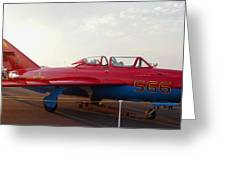Mig Trainer Jet Greeting Card