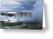Mighty Cold Niagara Greeting Card