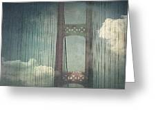Michigans Mackinac Bridge Greeting Card