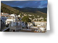 Mijas And Surrounding Hills Greeting Card