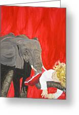 Mika And Elephant Greeting Card