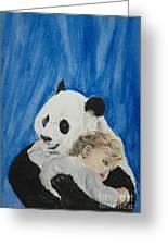 Mika And Panda Greeting Card