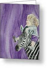 Mika And Zebra Greeting Card