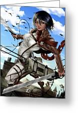 Mikasa Ackerman Greeting Card